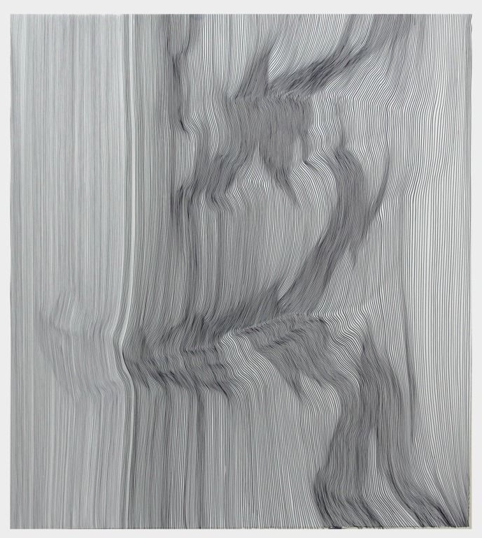 "Saatchi Online Artist: John Franzen; Pen and Ink 2013 Drawing ""EACH LINE ONE BREATH N° 26""  #onetowatch"