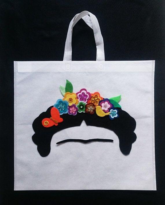 Frida Kahlo flor Cuervo monedero de bolso bolsa de por MXArtsCrafts