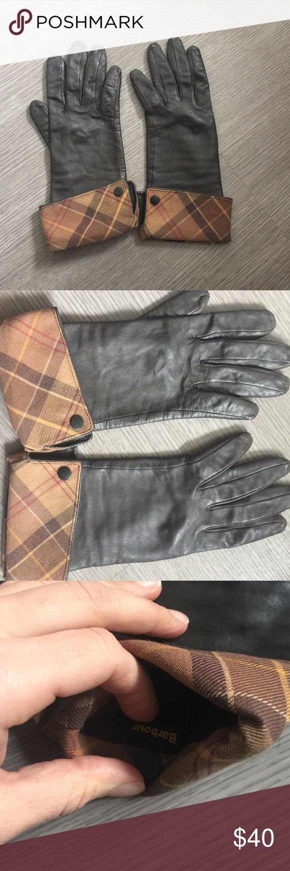 Barbour black leather utility gloves - Beautiful Barbour Gloves