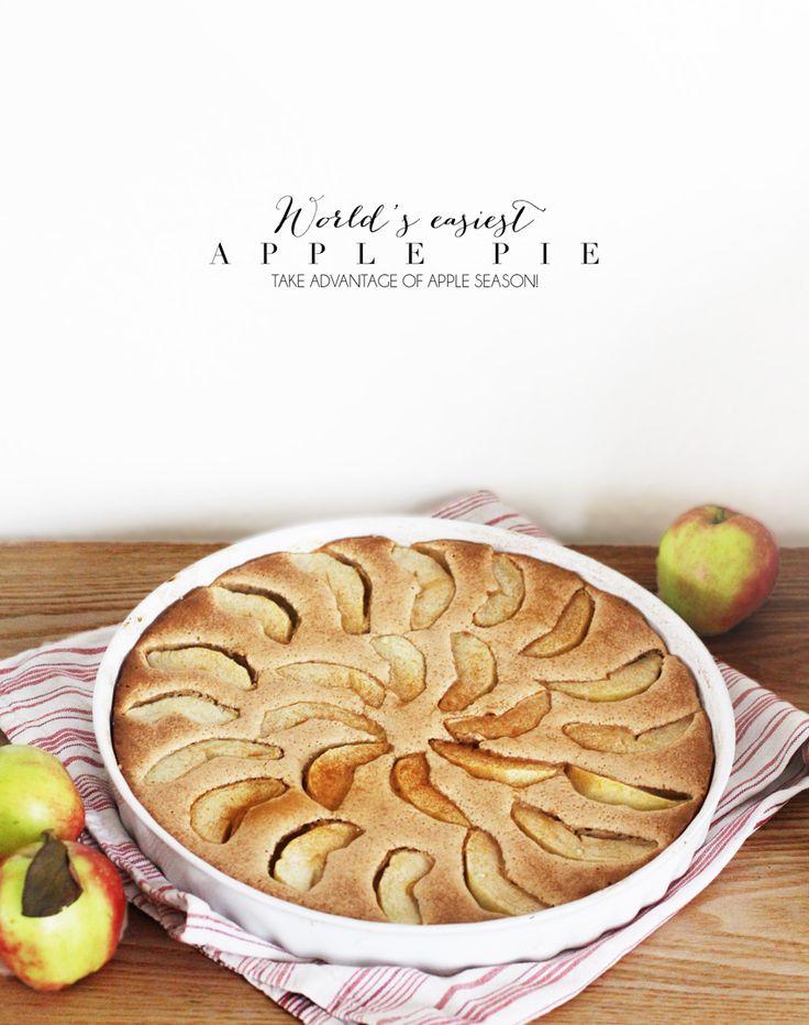OPSKRIFT - enkel og lækker æblekage