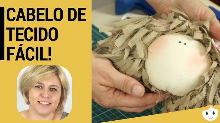 Como Fazer Cabelo De Tecido para Boneca de Pano Fácil