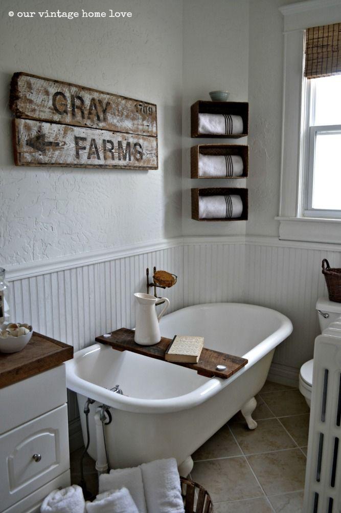 our vintage home love  Farmhouse Bathroom
