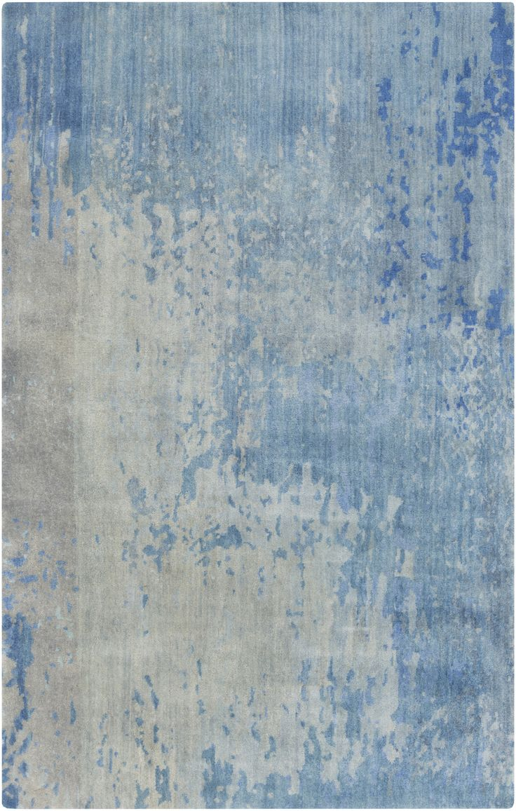 Watercolor Cobalt/Gray Area Rug