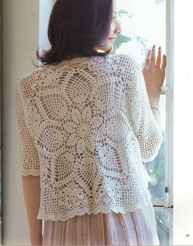 Openwork bolero pineapple cloth. Comments: LiveInternet - Russian Service Online Diaries