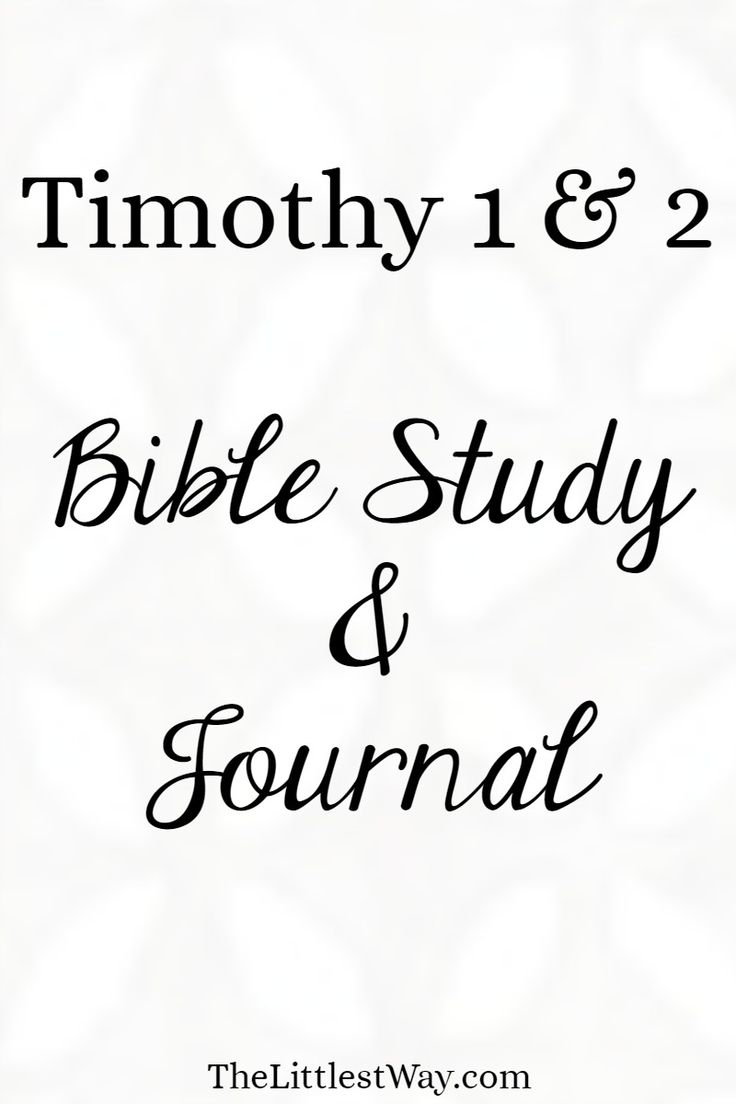 Outline of 1 Timothy - truthsaves.org
