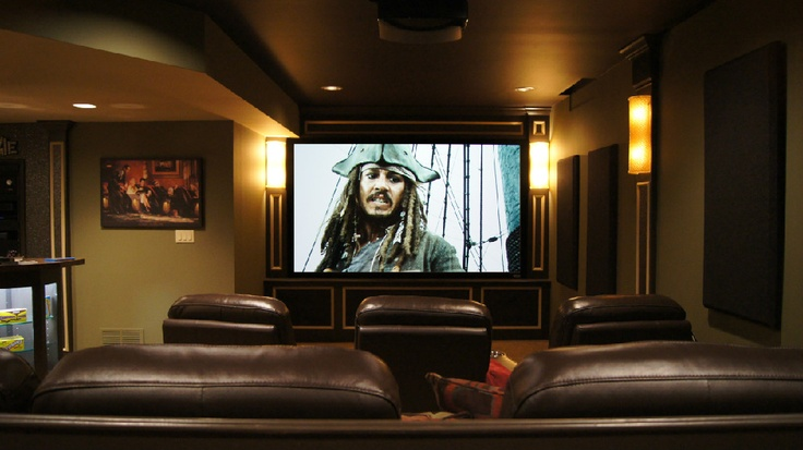 Luxury Home theater In Basement