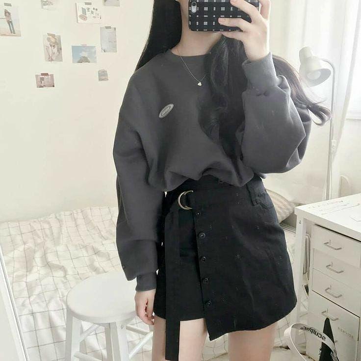 Women Classic Clothes Idea Stylish Autumn 2021 Gentle Korean Fashion Tiktok Highschool Korean Fashion Korean Street Fashion Korean Outfits