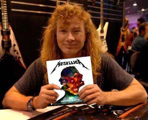 "Dave w/ his copy of ""Hardwired... To Self Destruct"" lml"