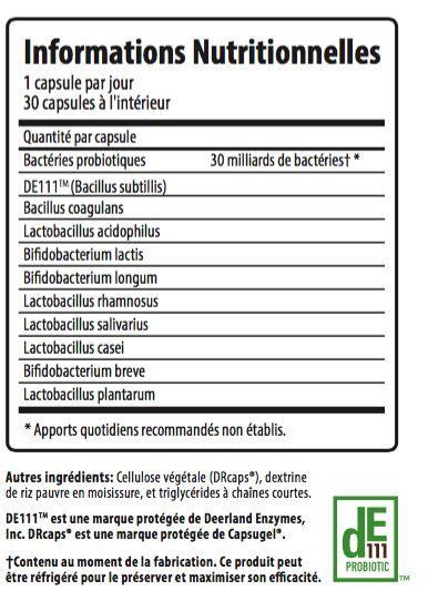 Page de commande des probiotiques