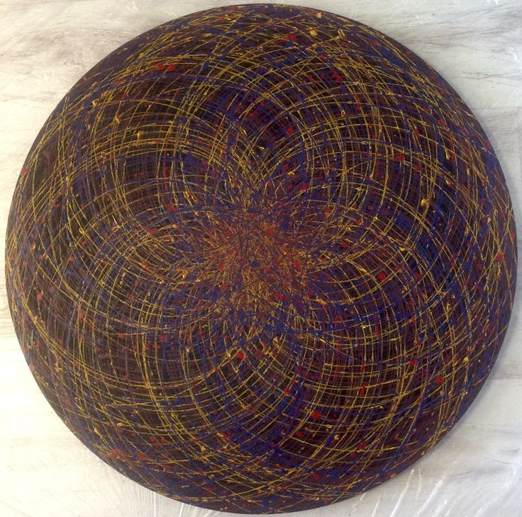 "Emin Özdemir — ""4 rotational oscillation"" acrylic paint. 73 cm in..."
