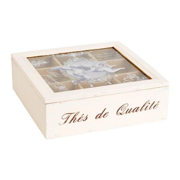 Další z krásných krabiček na čajové sáčky ze dřeva.
