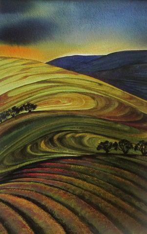 "Raewyn Harris - NZ - ""Evening Light"" - m/m."