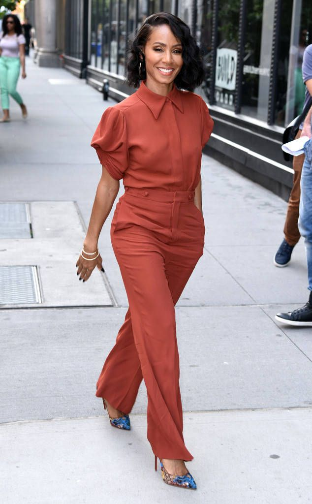 "Jada Pinkett Smith from The Big Picture: Today's Hot Photos  The actress is spotted in New York City promoting her new comedy ""Girls Aloud""."