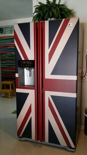 more than one design! Union Jack Fridge