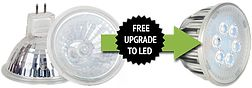 Upgrade your Halogen Downlight to LED downlight at $0 cost!!  ==> Only MR16 (Less than 10 lights there will be $30 installation fee) ==>GU10 halogen down lights (GU10 down lights is not eligible for free upgrade). http://www.siliconlighting.com.au/#!free-led/car3