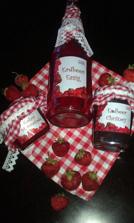 Erdbeer-Kokos-Marmelade, Erdbeer-Chutney, Erdbeer-Essig