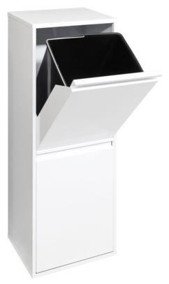 Estructura de acero lacado. Cubetas de plástico removibles. Ideal integrarlo en cualquier cocina. Basic 2 cubos 30.5x24.5xh90.5 cm. Basic 4 cubos 58.5x24.5xh90.5 cm....