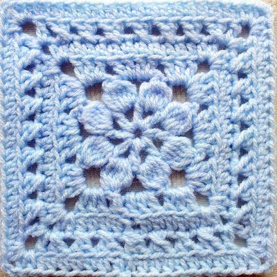 "Walled Garden Square - Free 6"" crochet square pattern by Judy M. Kerr"
