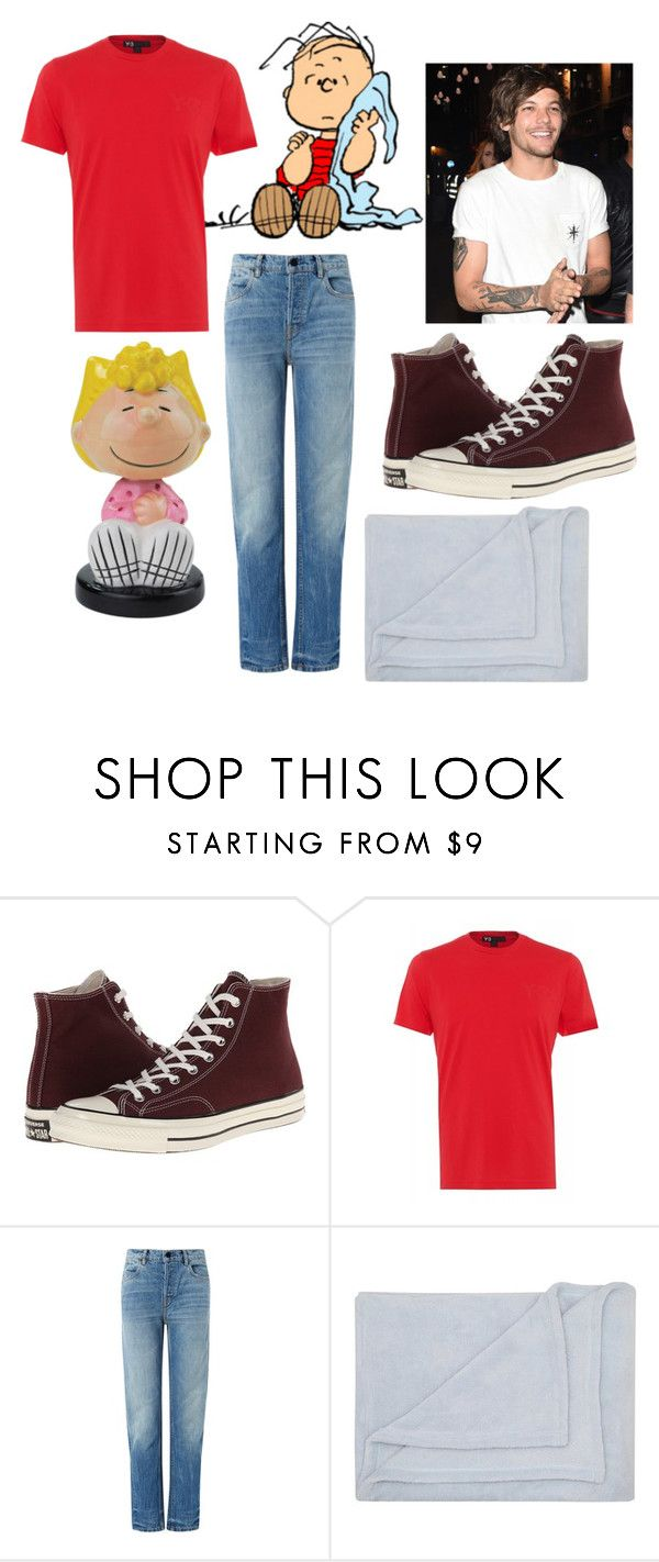 """""""Peanuts Gang: Louis Tomlinson as Linus Van Pelt"""" by mrs-allison-clifford ❤ liked on Polyvore featuring LINUS, Converse, Y-3, T By Alexander Wang and M&Co"""