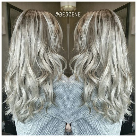 ROOTY PEARL⚪ASH BLONDE! By far one of my favorite shades of blonde ! I balayage using @Schwarzkopfusa #Blondme and tone using #Schwarzkopf Igora Royal! #BESCENE