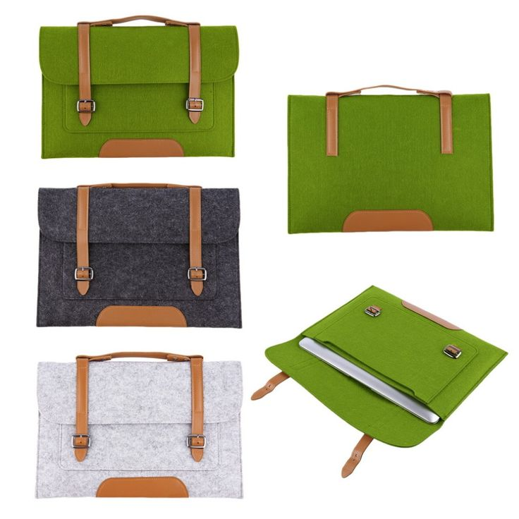 Fashion 13 inch Woolen Felt Laptop Cover Case Notebook Sleeve Bag Pouch For Apple Macbook Pro Air for laptop tablets notebook