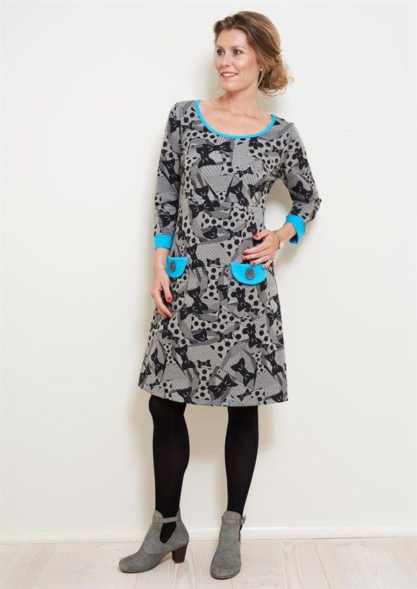 Charles kjole SIGRID Grey Bow - Køb kjolen HER