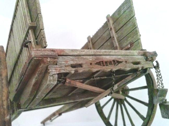 Foro de Belenismo - Miniaturas, detalles y complementos -> Mi primer carro de varas. Escala 1:11. (olpof)