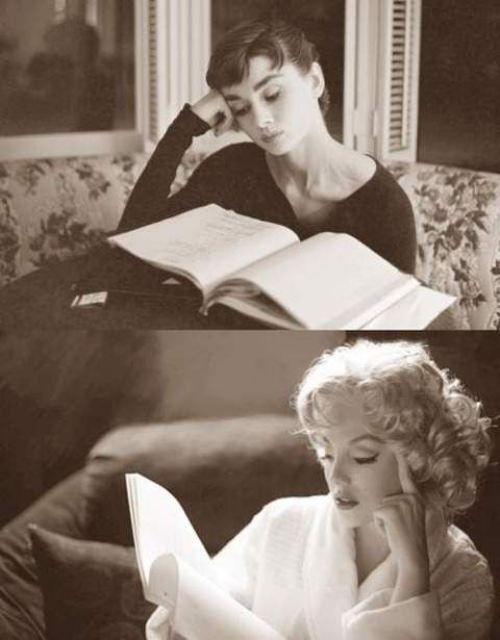 Hepburn and Monroe