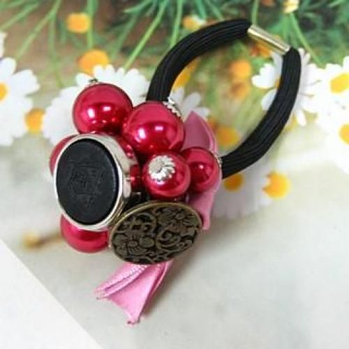 Bright Ball Hair Tie Red - One Size