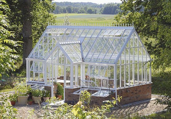 Vackert växthus