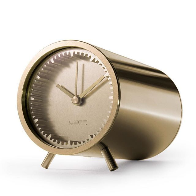 In #2014 #designer @Piet_Hein_Eek collaborated with #LEFFAmsterdam to create a series of designs that mirrored the #dutch design tradition - objects that are simple in #form, yet clever and practical in execution.  The #TubeClock is created with #extrusion techniques, where metal is forced through a mould to create the solid body and number ridges on the face of the #clock.  As the clock is only 2 inches wide, it can be used as an ornament on your desk, or mounted into a wooden block or…