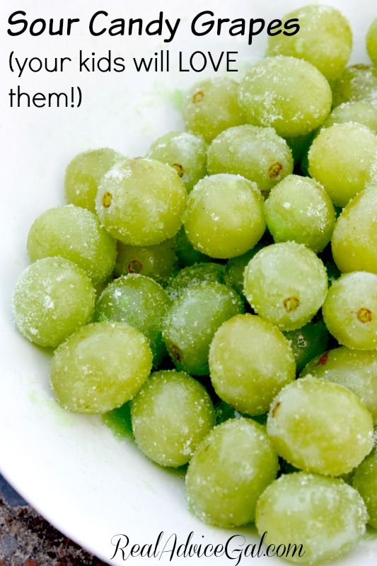 Enjoy this Sour Candy Grapes Recipe That Your Kids Will Love that is sure to become a summer favorite! (Green Apple Recipes)