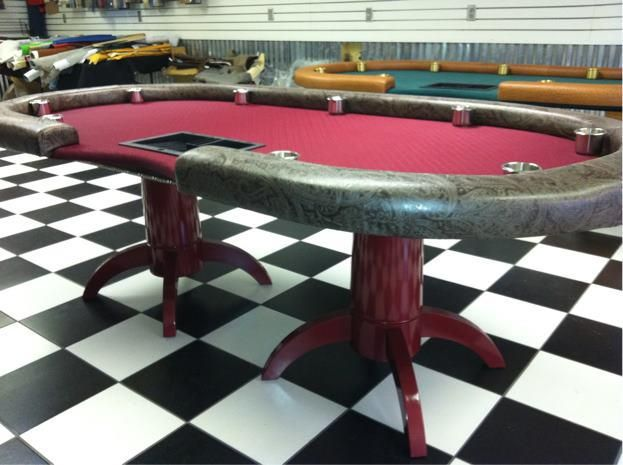 Poker table plans raised rail woodworking projects plans for Poker table blueprints