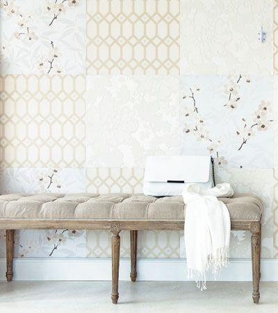 ''patchwork'' wallpaper, just put your 3 favourite wallpapers togehter on a wall!