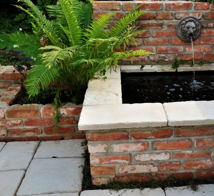 I love the contrast between the bricks and the edging.
