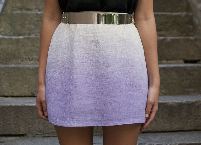 Ombre skirt from A Pair and a Spare. I've done this technique with tights, so easy!