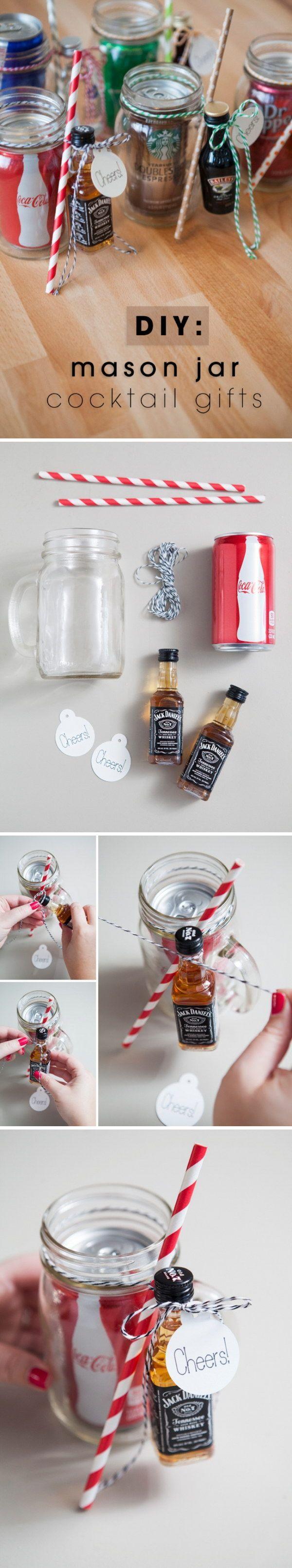 15 Easy Mason Jar Christmas Decorations You Can Make Yourself                                                                                                                                                                                 More