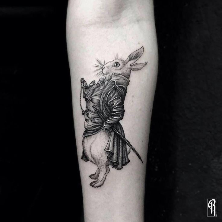 74 best rabbit tattoo ideas images on pinterest rabbit for Small alice in wonderland tattoos