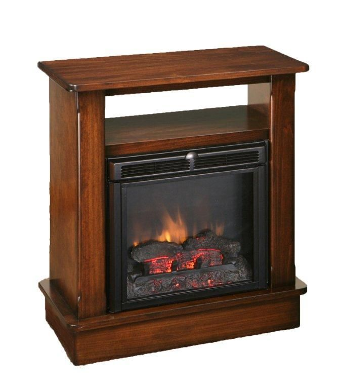 Amish Seneca Fireplace with Shelf and Remote