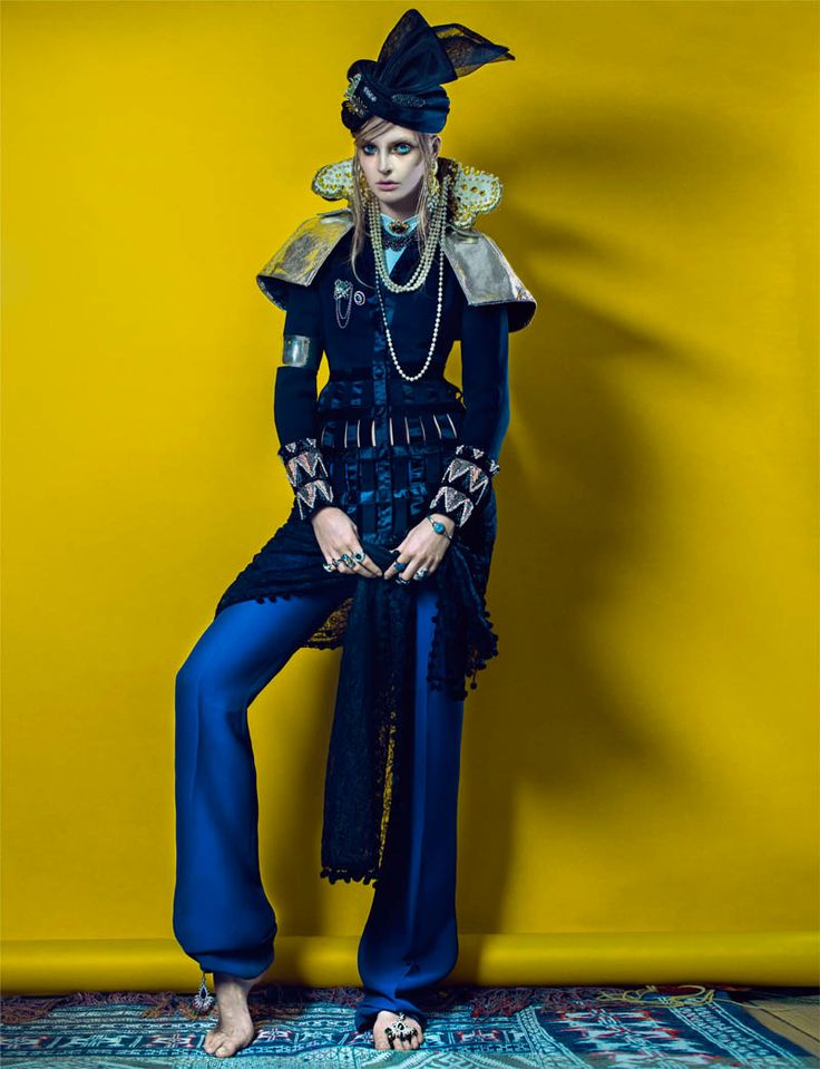 Culture Remix --- Indian Inspired Fashions for French Revue #22 by Signe Vilstrup