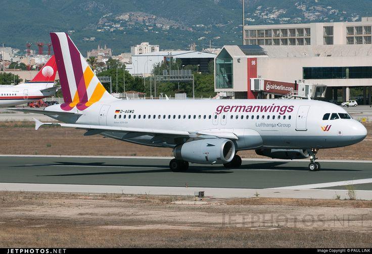 Airbus A319-132, Germanwings, D-AGWQ, cn 4256, 156 passengers, first flight 19.3.2010, Germanwings delivered 29.3.2010. Active, for example 30.9.2016 flight Stuttgart - Vienna. Foto: Palma de Mallorca, Spain, 16.8.2015.