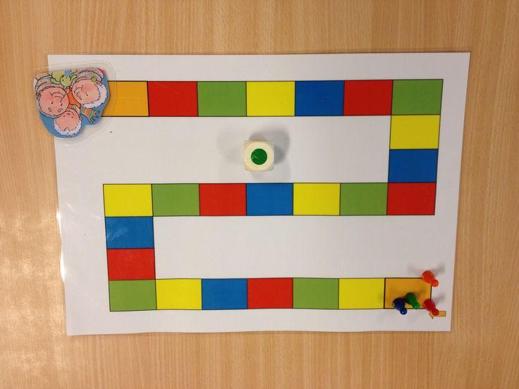 Ganzenbord met kleuren