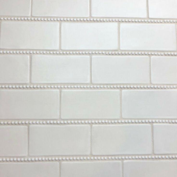 Handmade 3×6″ Subway Tile with Pearl Trim