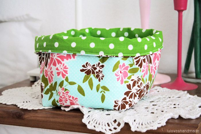 Luloveshandmade: DIY: Fabric Basket Sewing Tutorial