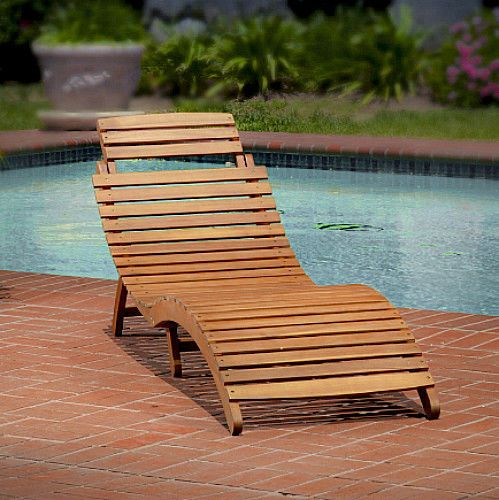 18 best wooden sun lounger garden reclining curved patio. Black Bedroom Furniture Sets. Home Design Ideas