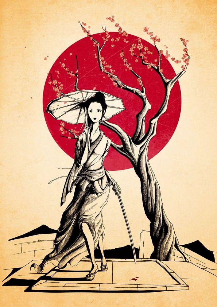 Ilustración: Geisha, por Rafapasta