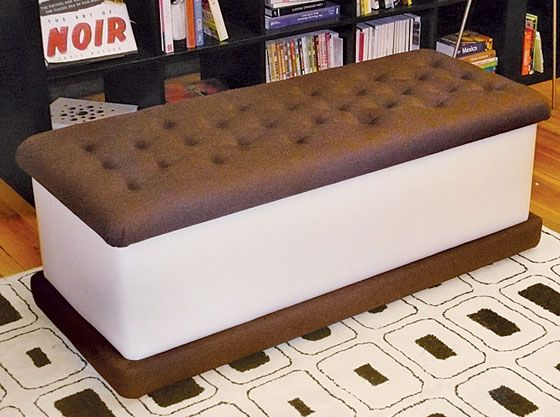 Ice-Cream Sandwich bench: Dreams Rooms, Ice Cream Sandwiches, Cream Benches, House, Furniture, Sandwiches Benches, Girls Rooms, Icecream, Sandwiches Seats