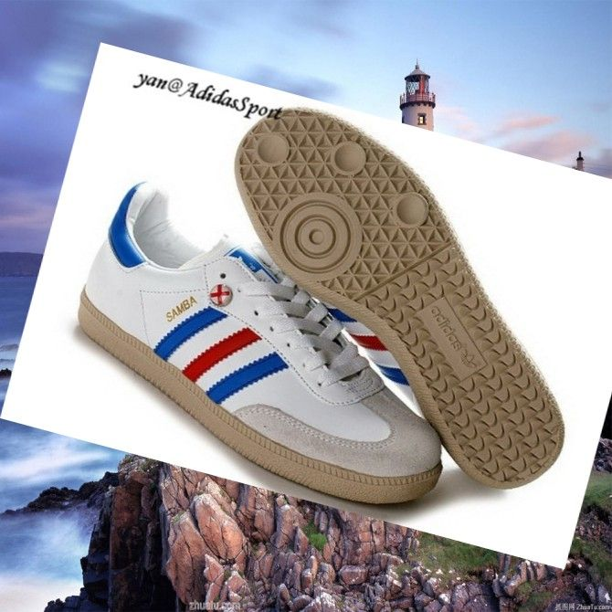 White Blue Red Lightgrey Gum - Adidas Originals Samba men Trainers,Stylish  trainers hot sale with off right here.