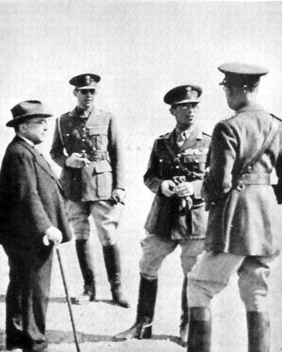 Metaxas, King George II, Prince Paul, and Papagos, Nov 1940 - pin by Paolo Marzioli