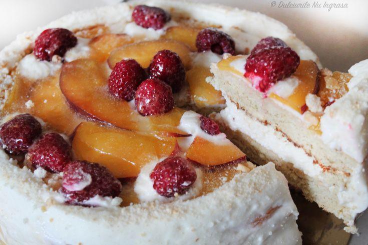 Tort Diplomat cu Piersici (fara zahar, fara frisca, Dukan, 100% sanatos)